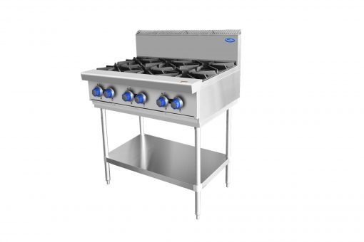 COOKRITE GAS 6 BURNER COOKTOP ON STAND