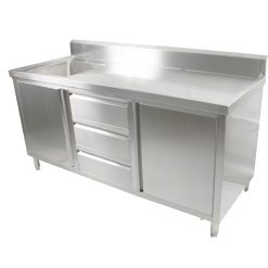 Stainless Steel Cabinet With Sinks
