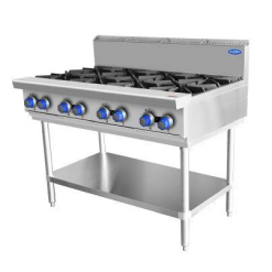 COOKRITE GAS 8 BURNER COOKTOP WITH STAND